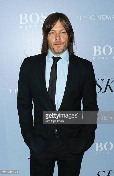 Actor Norman Reedus attends the premiere of IFC Films' 'Sky' hosted by The Cinema Society and Hugo Boss at Metrograph on April 14 2016 in New York...
