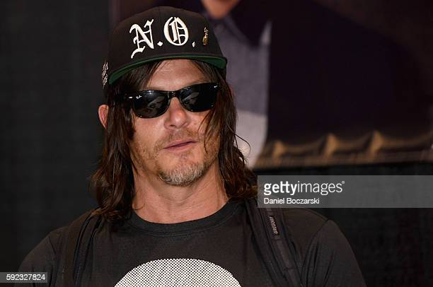 Actor Norman Reedus attends Wizard World Comic Con Chicago 2016 Day 3 at Donald E Stephens Convention Center on August 20 2016 in Rosemont Illinois