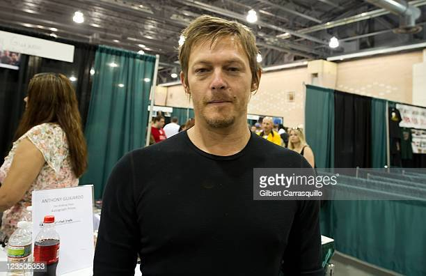 Actor Norman Reedus attends Wizard World's Philadelphia Comic Con 2011 at the Pennsylvania Convention Center on June 19 2011 in Philadelphia...