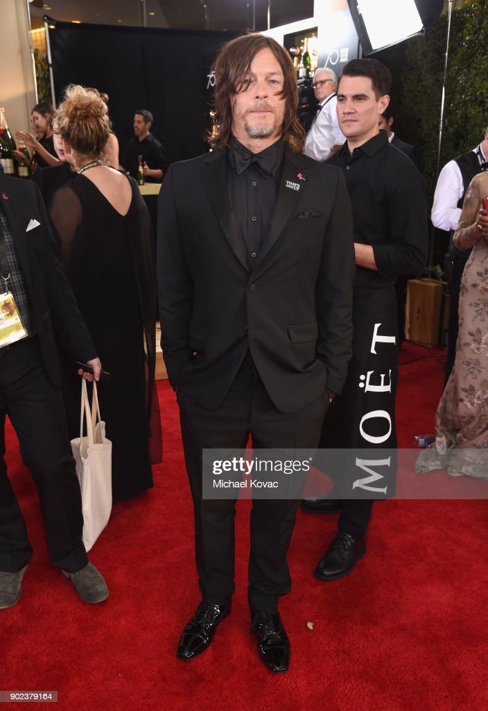 Actor Norman Reedus celebrates The 75th Annual Golden Globe Awards with Moet & Chandon at The Beverly Hilton Hotel on January 7, 2018 in Beverly Hills, California.