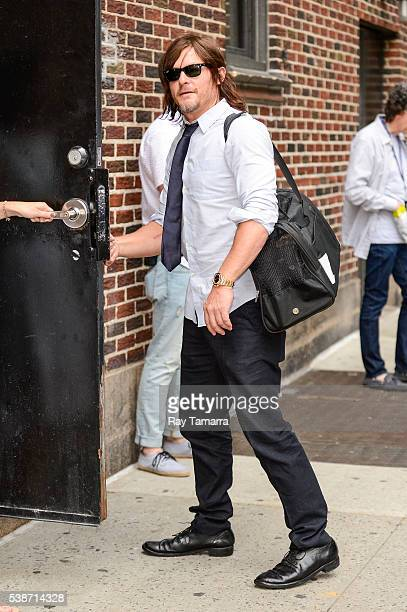 Actor Norman Reedus enters 'The Late Show With Stephen Colbert' taping at the Ed Sullivan Theater on June 07 2016 in New York City