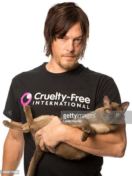 Actor Norman Reedus is photographed for Self Assignment on April 19 2013 in New York New York
