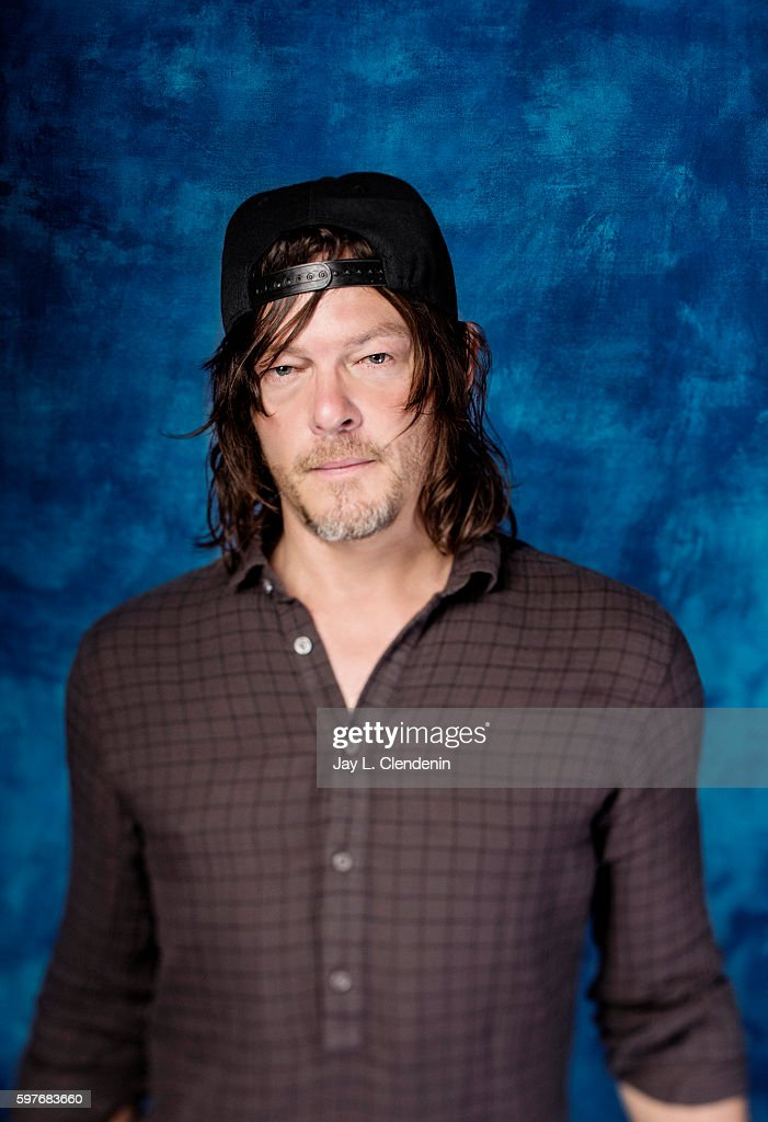 Actor Norman Reedus of AMC's 'The Walking Dead' is photographed for Los Angeles Times at San Diego Comic Con on July 22, 2016 in San Diego, California.