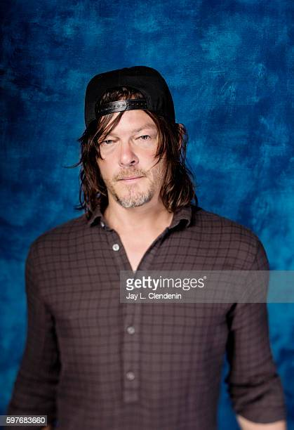 Actor Norman Reedus of AMC's 'The Walking Dead' is photographed for Los Angeles Times at San Diego Comic Con on July 22 2016 in San Diego California