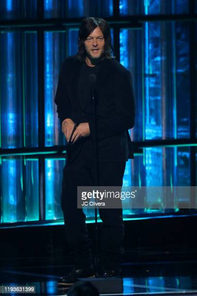 Actor Norman Reedus speaks onstage during The Game Awards 2019 at Microsoft Theater on December 12 2019 in Los Angeles California