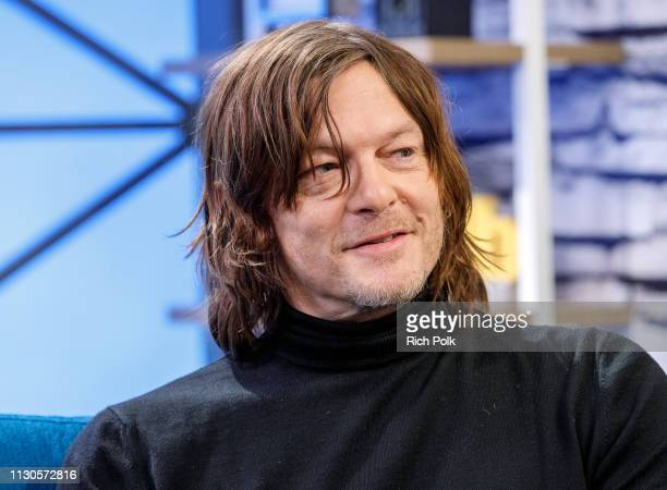 Actor Norman Reedus visits 'The IMDb Show' on February 11 2019 in Studio City California This episode of 'The IMDb Show' airs on February 21 2019