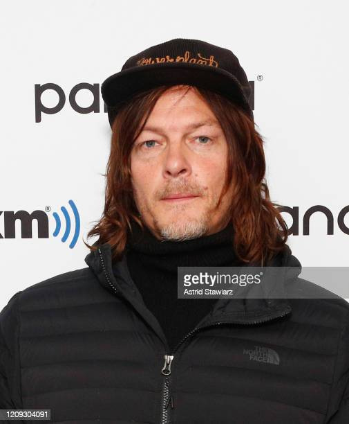 Actor Norman Reedus visits the SiriusXM Studios on February 28 2020 in New York City