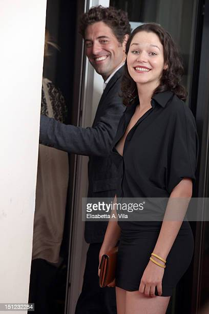 Actor Nuno Lopes and actress Joana de Verona attends the 'Lines Of Wellington' Photocall during the 69th Venice Film Festival at the Palazzo del...