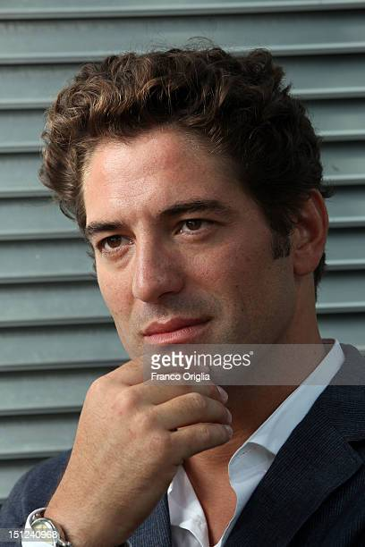 Actor Nuno Lopes from the film 'Lines Of Wellington' poses during the 69th Venice Film Festival at the Lancia space on September 4, 2012 in Venice,...