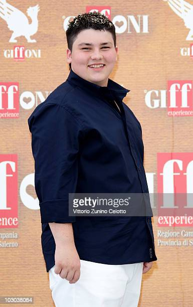Actor Nunzio Giuliano attends a photocall during the Giffoni Experience 2010 on July 22 2010 in Giffoni Valle Piana Italy