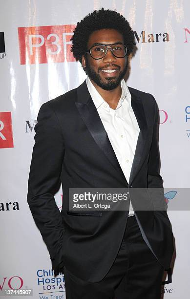 Actor Nyambi Nyambi arrives at The Butterfly Gala An Enchanted Evening held at SLS Hotel on January 17 2012 in Beverly Hills California