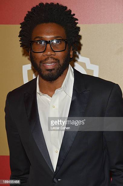 Actor Nyambi Nyambi attends the 2013 InStyle and Warner Bros 70th Annual Golden Globe Awards PostParty held at the Oasis Courtyard in The Beverly...