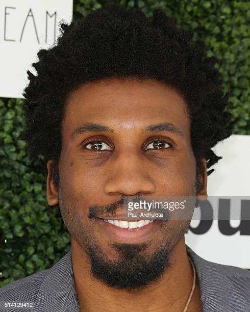 Actor Nyambi Nyambi attends the 2nd annual LoveLife fundraiser to support The BuildOn Organization at Microsoft Lounge on March 6 2016 in Venice...