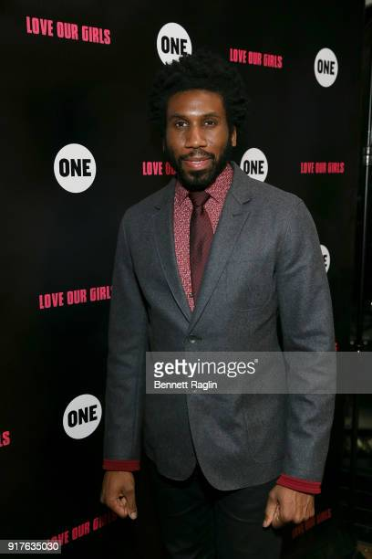 Actor Nyambi Nyambi attends the Danai x One x Love Our Girls celebration at The Top of The Standard on February 12 2018 in New York City