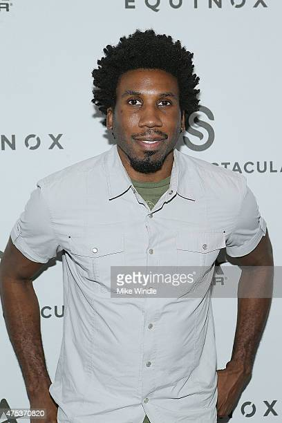 Actor Nyambi Nyambi attends the Equinox Celebrity Basketball Spectacular To Benefit Sports Spectacular on May 30 2015 in West Los Angeles California