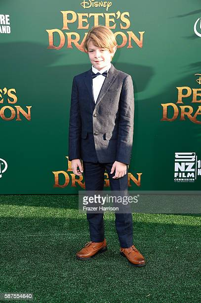 Actor Oakes Fegley attends the premiere of Disney's Pete's Dragon at the El Capitan Theatre on August 8 2016 in Hollywood California