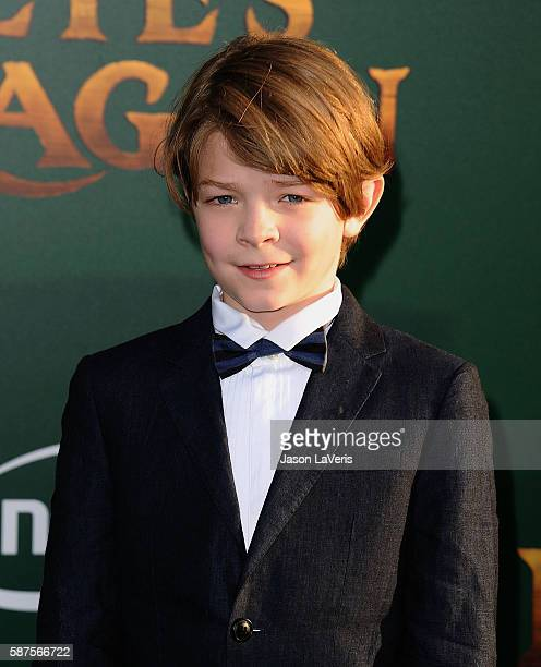 Actor Oakes Fegley attends the premiere of Pete's Dragon at the El Capitan Theatre on August 8 2016 in Hollywood California