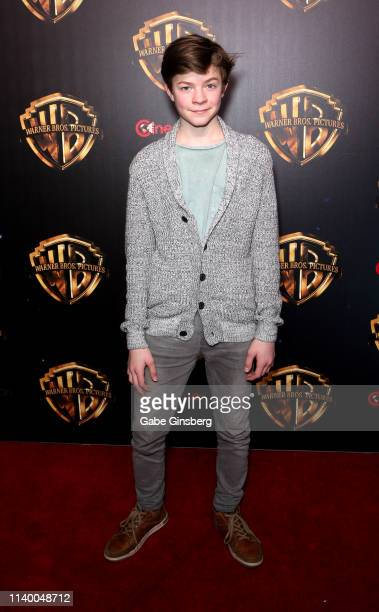 Actor Oakes Fegley attends Warner Bros Pictures The Big Picture exclusive presentation during CinemaCon at The Colosseum at Caesars Palace on April...