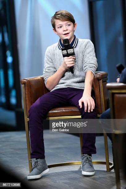 Actor Oakes Fegley visits the Build Studio to discuss his film Wonderstruck at Build Studio on October 27 2017 in New York City