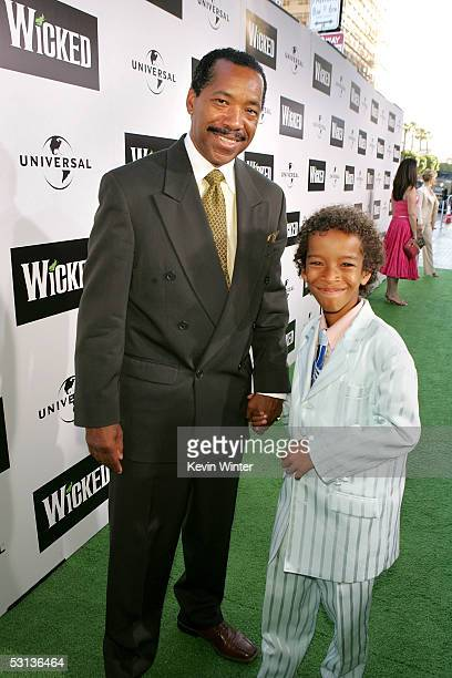 Actor Obba Baba Tunte and son arrive at the Los Angeles Premiere of the Broadway musical Wicked at the Pantages Theatre on June 22 2005 in Hollywood...