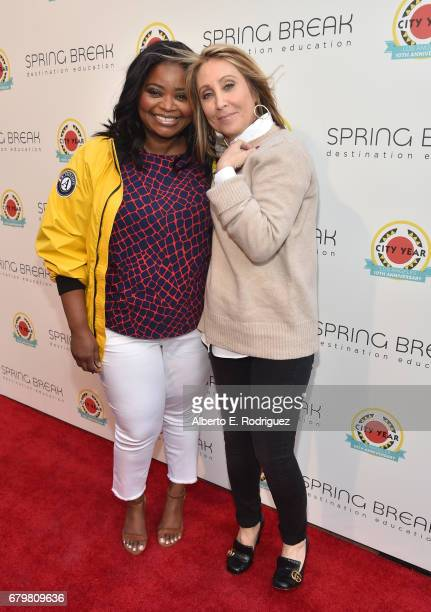 Actor Octavia Spencer and CEO of 20th Century Fox Stacey Snider attend City Year Los Angeles Spring Break on May 6 2017 in Los Angeles California