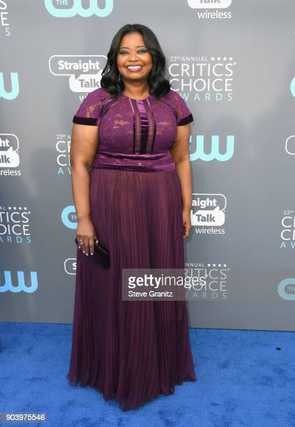 Actor Octavia Spencer attends The 23rd Annual Critics' Choice Awards at Barker Hangar on January 11 2018 in Santa Monica California