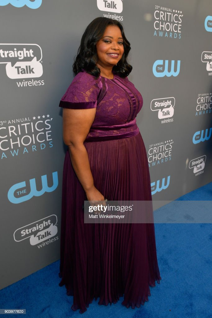 Actor Octavia Spencer attends The 23rd Annual Critics' Choice Awards at Barker Hangar on January 11, 2018 in Santa Monica, California.
