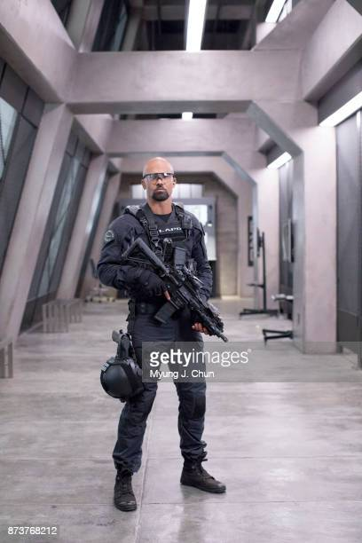 Actor of CBS's 'SWAT' Shemar Moore is photographed for Los Angeles Times on October 19 2017 in Los Angeles California PUBLISHED IMAGE CREDIT MUST...