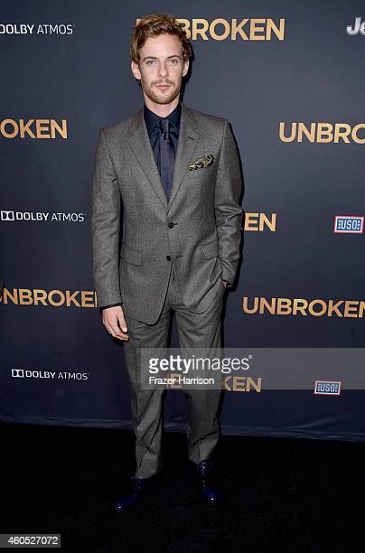 Actor of Luke Treadaway arrives at the Premiere Of Universal Studios' Unbroken at TCL Chinese Theatre on December 15 2014 in Hollywood California
