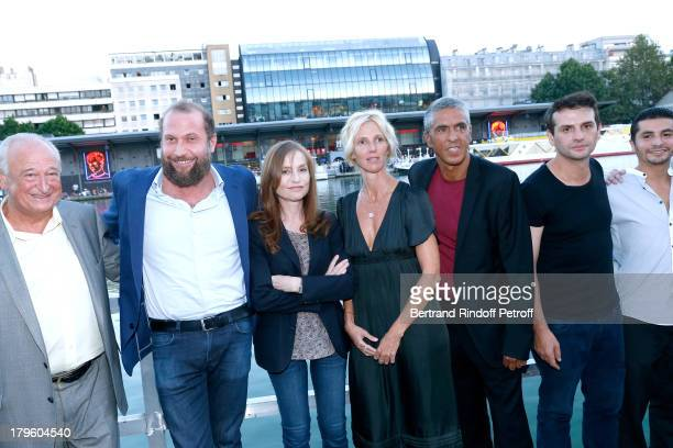 Actor of movie actors François Damiens Isabelle Huppert Sandrine Kiberlain Samy Naceri director Serge Bozon and actor Aymen Saidi attend 'Tip Top'...