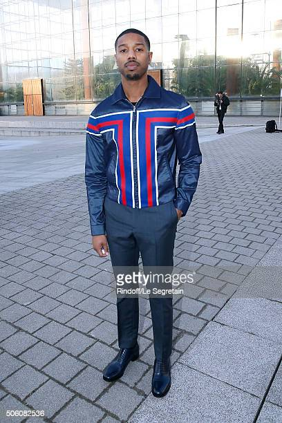 Actor of Movie 'Creed l'heritage de Rocky Balboa' Michael B Jordan attends the Louis Vuitton Menswear Fall/Winter 20162017 fashion show as part of...