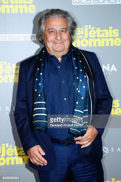 Actor of the movie Christian Clavier attends the 'Si j'etais un Homme' Paris Premiere at Cinema Gaumont Opera on February 21 2017 in Paris France