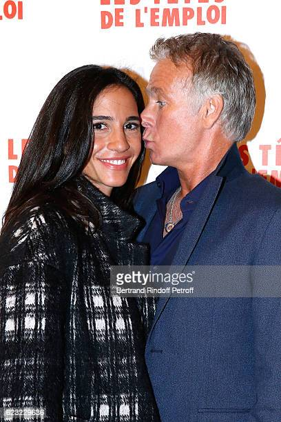 Actor of the movie Franck Dubosc and his wife Daniele attend 'Les Tetes de l''Emploi' Paris Premiere at Cinema Gaumont Opera Capucines on November 14...