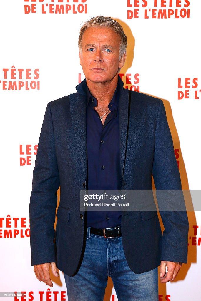 Actor of the movie, Franck Dubosc attends 'Les Tetes de l''Emploi' Paris Premiere at Cinema Gaumont Opera Capucines on November 14, 2016 in Paris, France.