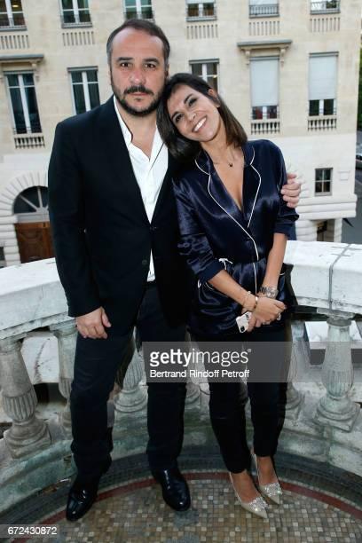 Actor of the movie FrancoisXavier Demaison and Director of the movie Reem Kherici attend the Jour J Paris movie Premiere on April 24 2017 in Paris...