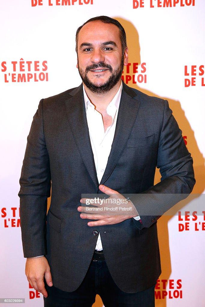 Actor of the movie, Francois-Xavier Demaison attends 'Les Tetes de l''Emploi' Paris Premiere at Cinema Gaumont Opera Capucines on November 14, 2016 in Paris, France.