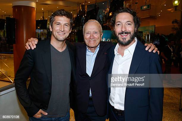 Actor of the movie Guillaume Canet President Pathe Jerome Seydoux and actor of the movie Guillaume Gallienne attend the 'Cezanne et Moi' Premiere...