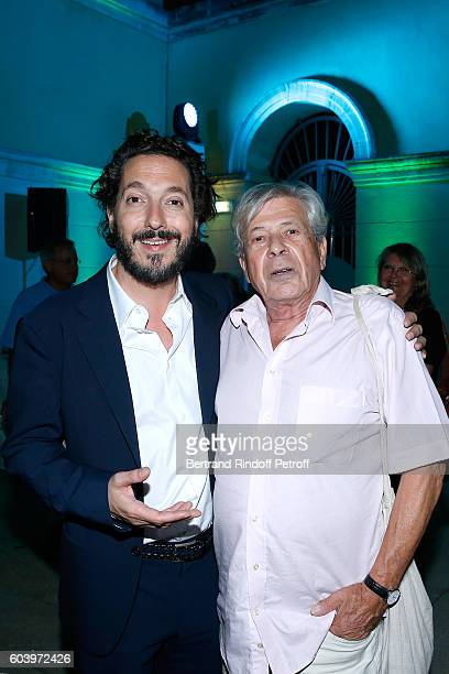 Actor of the movie Guillaume Gallienne who plays the Role of Cezanne and Great grandson of Cezanne Philippe Cezanne attend the 'Cezanne et Moi'...