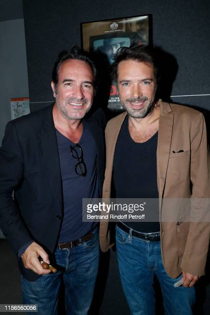 Actor of the movie Jean Dujardin and his Director in the next movie OSS 117 Nicolas Bedos attend Le Daim Movie Premiere at MK2 Odeon on June 17 2019...