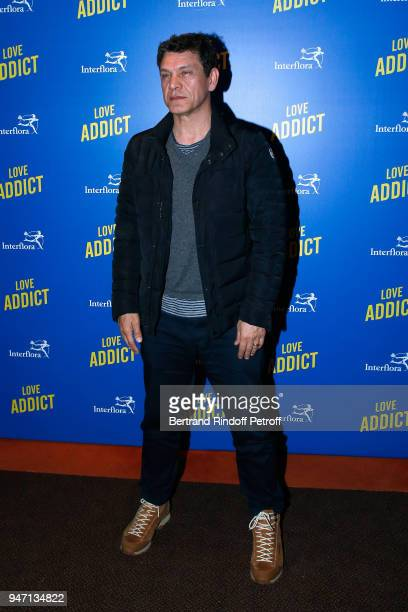Actor of the movie Marc Lavoine attends the Love Addict Premiere at Cinema Gaumont Marignan on April 16 2018 in Paris France
