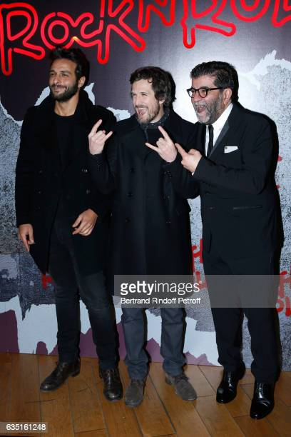 Actor of the movie Maxim Nucci Actor and Director of the movie Guillaume Canet and Producer of the movie Alain Attal attend the Rock'N Roll Premiere...