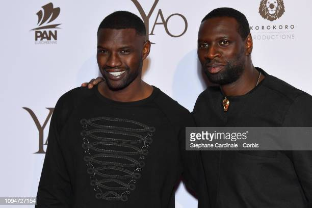 Actor of the movie Omar Sy and his brother model Djiby Sy attend 'Yao' Paris Premiere at Le Grand Rex on January 15 2019 in Paris France