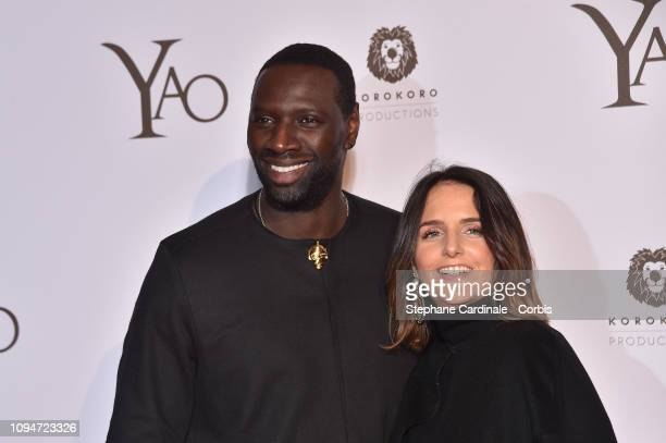 Actor of the movie Omar Sy and his wife Helene Sy attend 'Yao' Paris Premiere at Le Grand Rex on January 15 2019 in Paris France