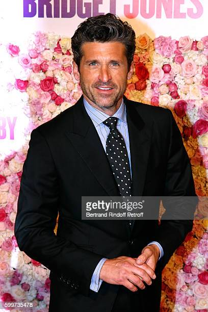 Actor of the movie Patrick Dempsey attends the Bridget Jones Baby Paris Premiere Held at Cinema Le Grand Rex on September 6 2016 in Paris France