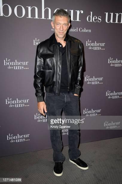 "Actor of the movie Vincent Cassel attends the ""Le Bonheur Des Uns"" Premiere at Pathe Opera on September 08, 2020 in Paris, France."