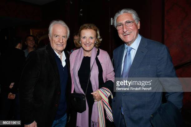 Actor of the Piece Andre Dussollier Antoinette Barbey and her husband Baron ErnestAntoine Seilliere attend the 'Novecento' Theater Play in support of...