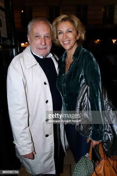 "Actor of the piece Francois Berleand and Corinne Touzet attend the ""Ramses II"" Theater Play at Theatre des Bouffes Parisiens on October 23, 2017 in..."