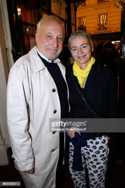 "Actor of the piece Francois Berleand and his wife Alexia Stresi attend the ""Ramses II"" Theater Play at Theatre des Bouffes Parisiens on October 23,..."