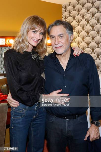 Actor of the piece Richard Berry and his wife actress Pascale Louange attend the Plaidoiries Theater Play at Le Comedia Theatre Libre on December 06...