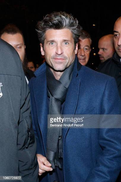 4950b44de4a Actor of the series Patrick Dempsey attends The truth about the Harry  Quebert affair La verite